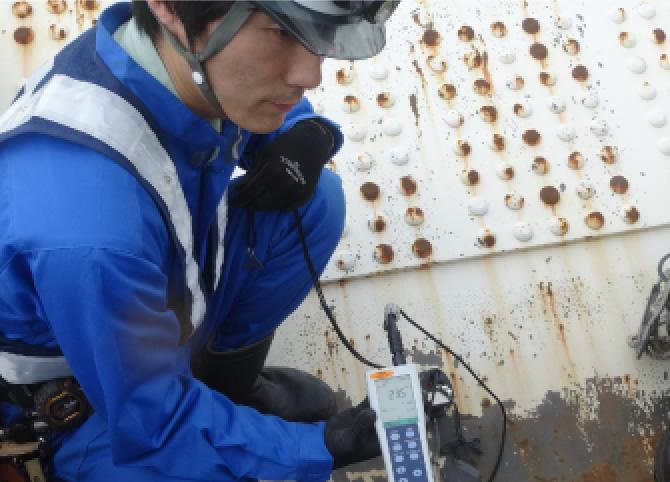 表面塩分調査(コンクリート及び鋼)
